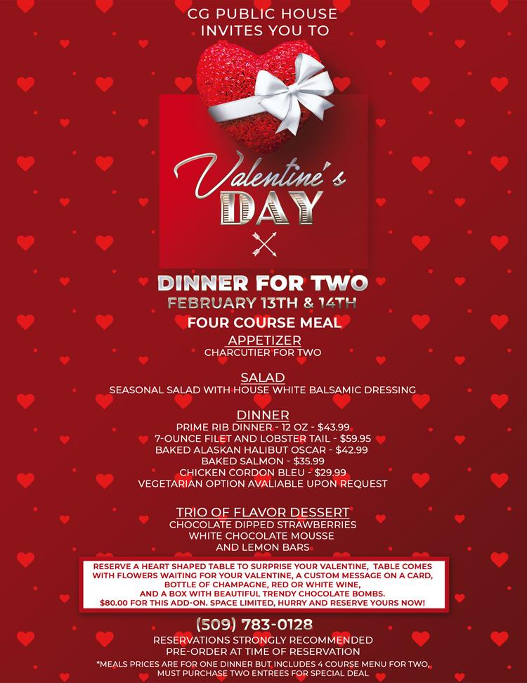 cg kennewick Valentines Day dinner